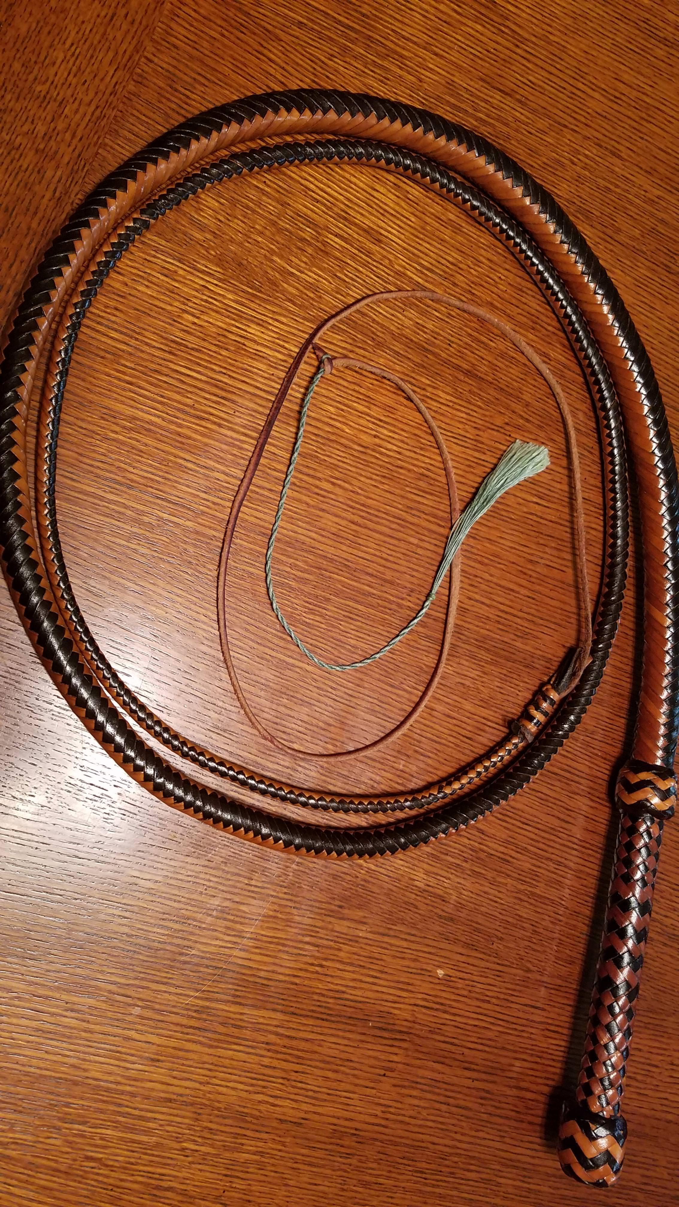 Finished 8 ft kangaroo hide bull whip - Imgur